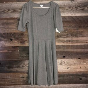 Solid gray Lularoe nicole dress